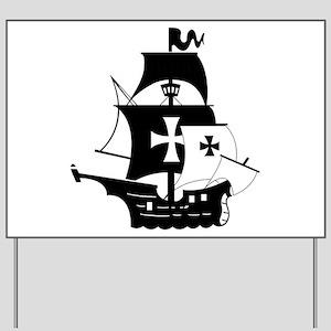 pirate ship Yard Sign