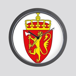 Coat of arms of Norway Wall Clock