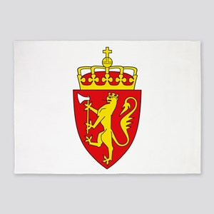 Coat of arms of Norway 5'x7'Area Rug