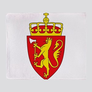 Coat of arms of Norway Throw Blanket