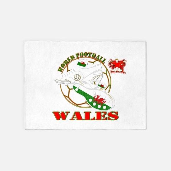Wales World Football 5'x7'Area Rug