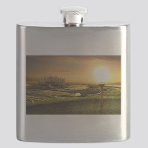Golf sunset Flask