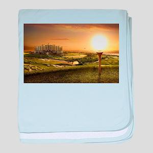 Golf sunset baby blanket