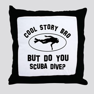 Scuba Dive designs Throw Pillow