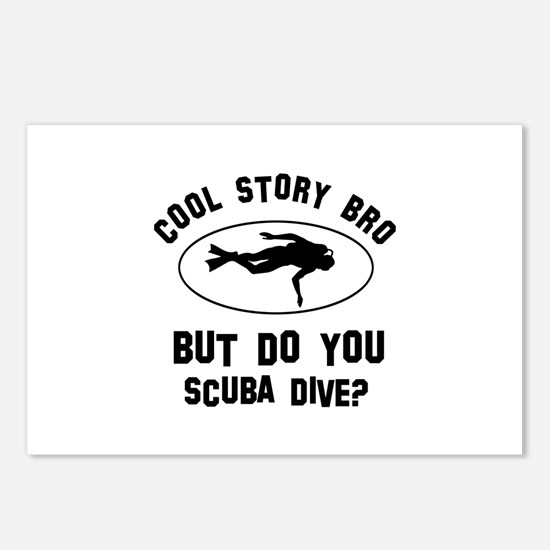 Scuba Dive designs Postcards (Package of 8)