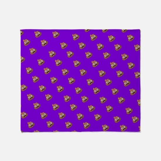 Emoji Poop Throw Blanket