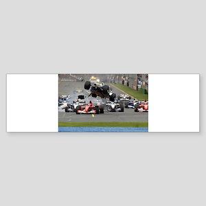 F1 Crash Bumper Sticker