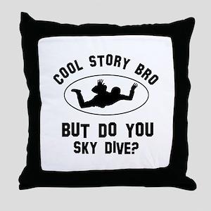 Sky Dive designs Throw Pillow
