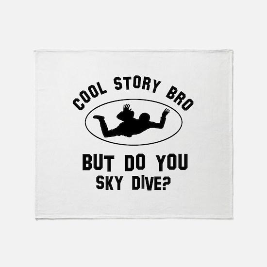 Sky Dive designs Throw Blanket