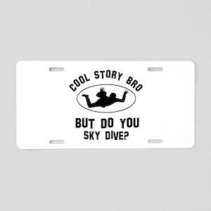 Sky Dive designs Aluminum License Plate