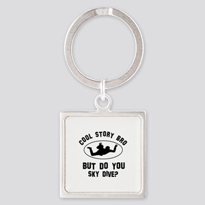 Sky Dive designs Square Keychain