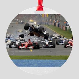 F1 Crash Ornament
