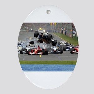 F1 Crash Ornament (Oval)