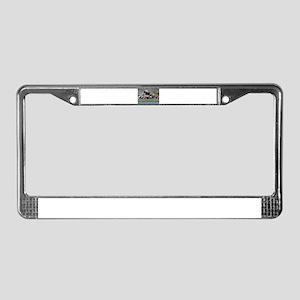 F1 Crash License Plate Frame