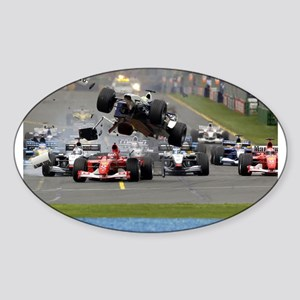 F1 Crash Sticker