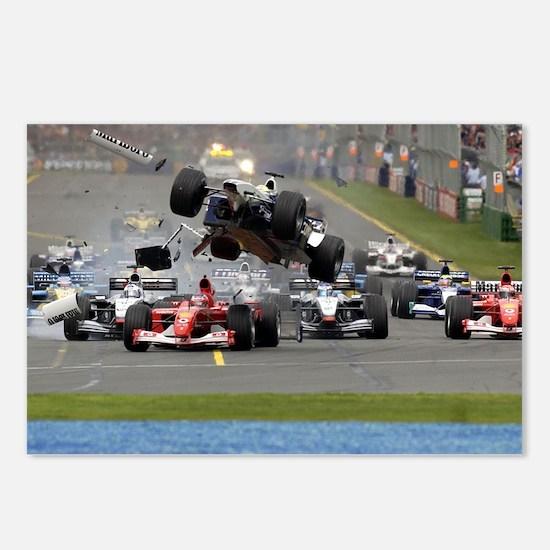 F1 Crash Postcards (Package of 8)