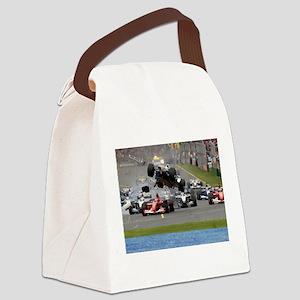 F1 Crash Canvas Lunch Bag