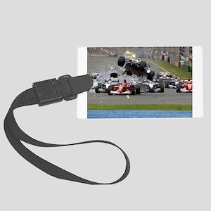 F1 Crash Luggage Tag
