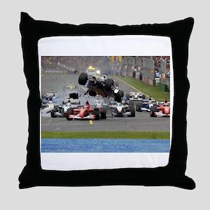 F1 Crash Throw Pillow