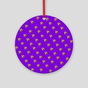 Emoji Poop Round Ornament