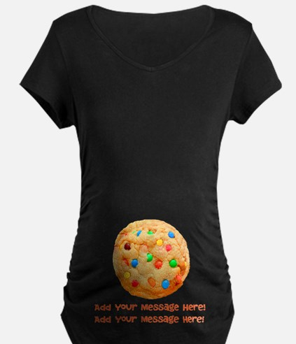 Personalize It, Chocolate Cookie Maternity T-Shirt