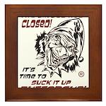 Give it up Framed Tile