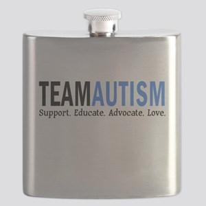 Team Autism (Blue) Flask