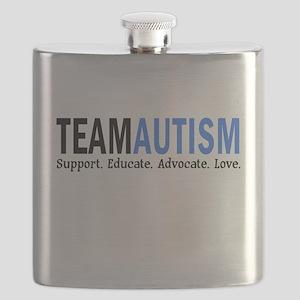 Team Autism (Blue) Flask