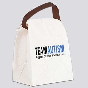 Team Autism (Blue) Canvas Lunch Bag
