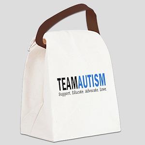 Team Autism (Blue) Canvas Lunch Bag