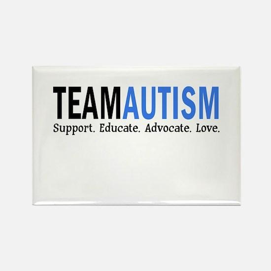 Team Autism (Blue) Rectangle Magnet