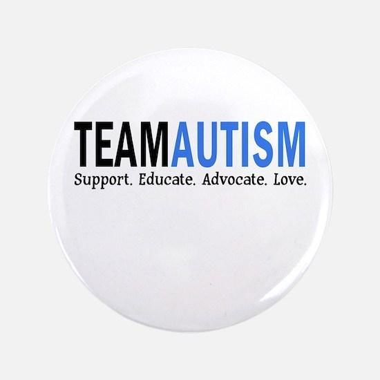 "Team Autism (Blue) 3.5"" Button (100 pack)"