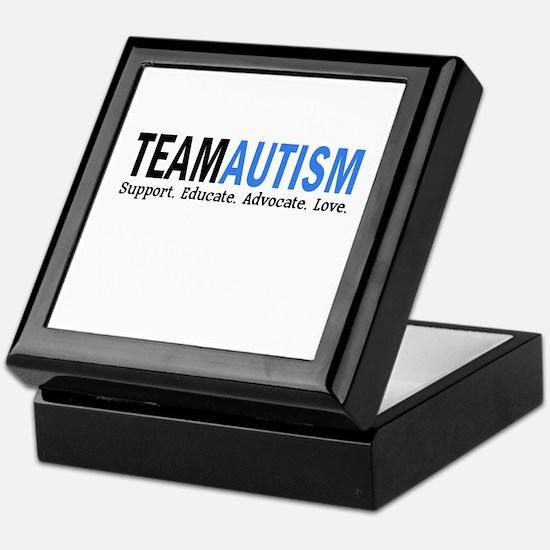 Team Autism (Blue) Keepsake Box