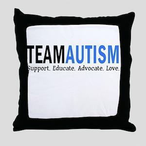 Team Autism (Blue) Throw Pillow