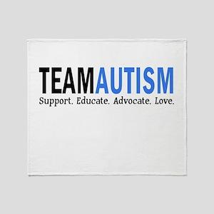 Team Autism (Blue) Throw Blanket