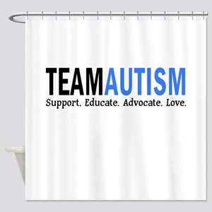 Team Autism (Blue) Shower Curtain