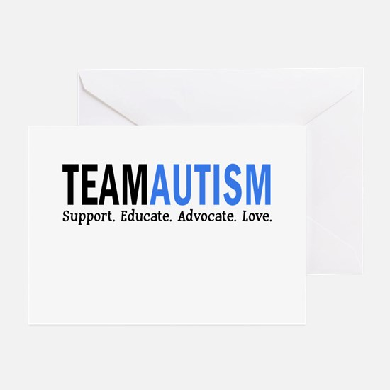 Team Autism (Blue) Greeting Cards (Pk of 10)