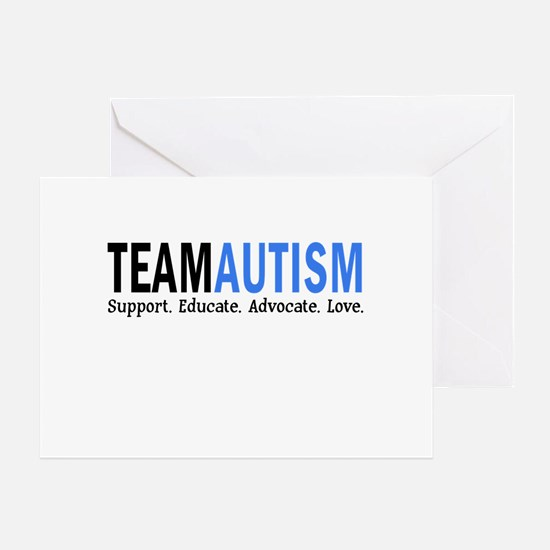 Team Autism (Blue) Greeting Card