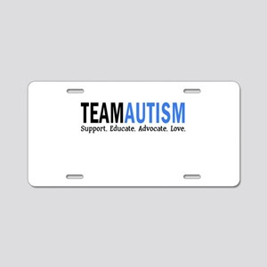 Team Autism (Blue) Aluminum License Plate