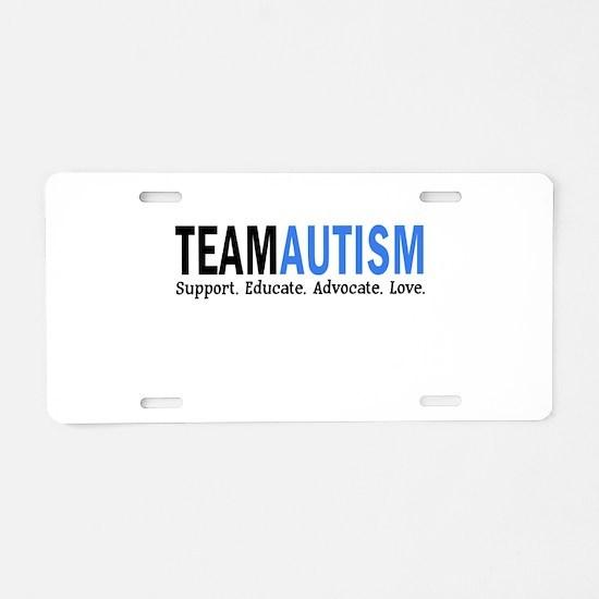 Team Autism (Blue) Aluminum License Plate