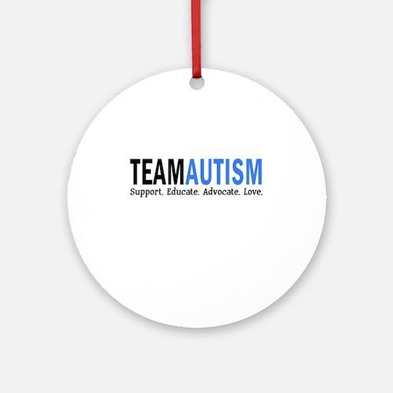 Team Autism (Blue) Ornament (Round)