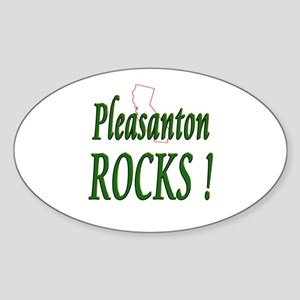 Pleasanton Rocks ! Oval Sticker
