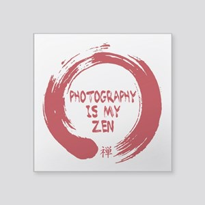 Photography is my Zen-1-red Sticker