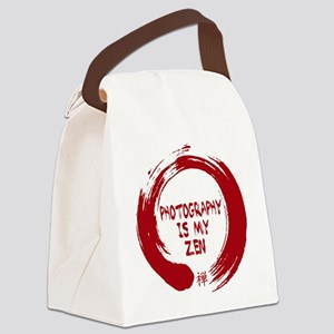 Photography is my Zen-1-red Canvas Lunch Bag