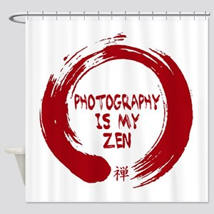 Photography is my Zen-1-red Shower Curtain
