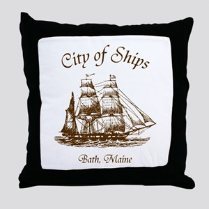 City of Ships Throw Pillow