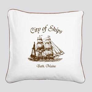 City of Ships Square Canvas Pillow