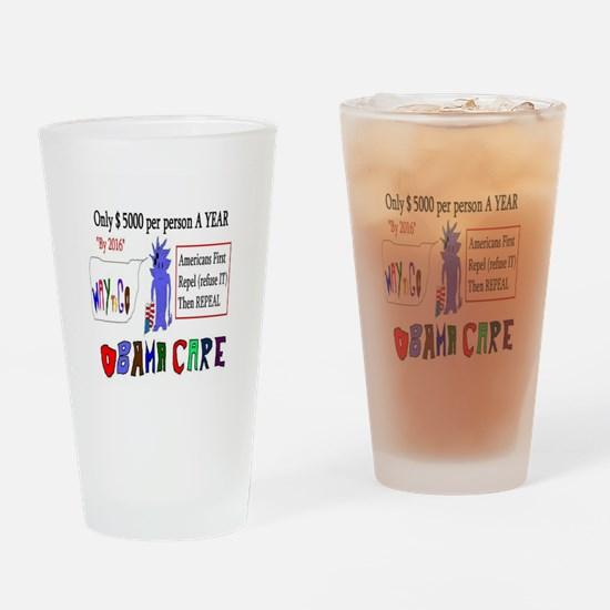 Obamacare Repeal It Drinking Glass