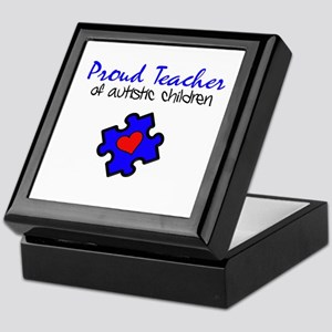 Proud Teacher of Autistic Children Keepsake Box