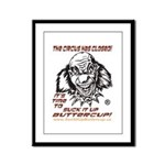 The Damn Circus is Closed Framed Panel Print